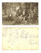 1920 Group Family HUNTING & dogs postcard RR